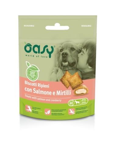 Oasy Snack Cane - Biscotti Ripieni con Salmone e Mirtilli 80gr