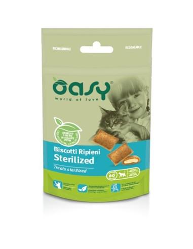 Oasy Snack Gatto - Biscotti Ripieni Sterilized 60gr