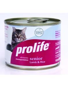 Prolife cat senior agnello e riso lattina umido 200 gr