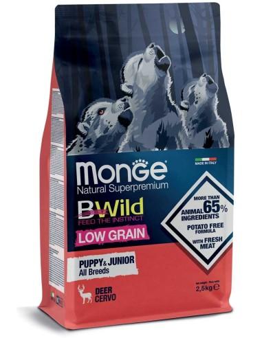 Monge BWild Dog Low Grain Puppy&Junior All Breeds Adult Cervo - 2,5kg