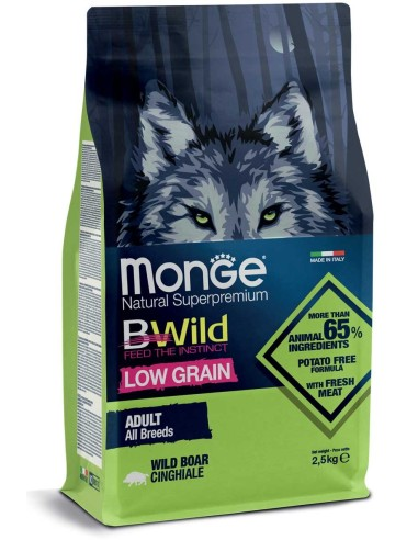 Monge BWild Dog Low Grain All Breeds Adult Cinghiale - 2,5kg