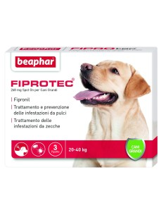 Fiprotec cane grande 3 pipette x 268 mg