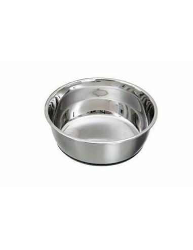Ciotola Selecta per cani piccoli e gatti in acciaio con antiscivolo - 300ml