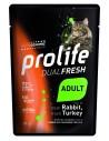 Prolife Cat Dualfresh Adult Coniglio e Tacchino - 85 gr - NEW