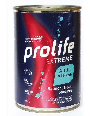Prolife Extreme Adult All Breeds Salmone Trota & Sardine 400 gr - NEW