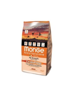 Monge grain free all breeds anatra e patate 2,5 kg