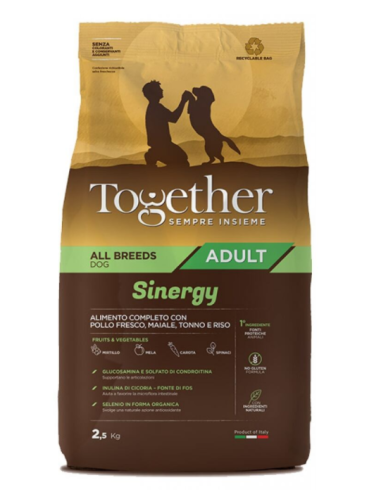 Together Adult All Breeds Sinergy con Pollo fresco, Maiale e Tonno 12kg