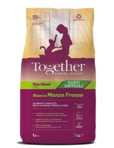 Together Cat Adult Sterilised Gusti Difficili con Manzo fresco 1,5kg
