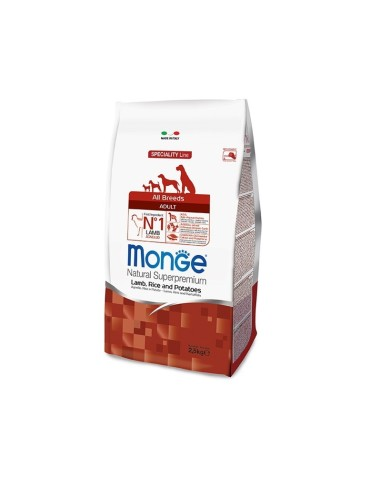 Monge all breeds   agnello, riso e patate 2,5 kg