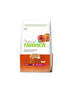 Natural Trainer medium puppy junior pollo fresco cicoria lievito 12 kg