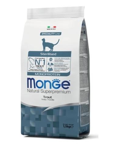 Monge Cat Superpremium Sterilised con Trota - 10kg