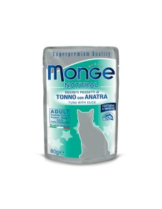 Monge buste tonno/anatra 80 gr