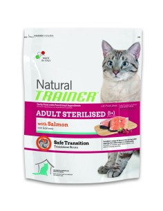 Natural trainer Gatto adult sterilised salmone 300 gr