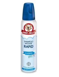 Bayer Sano e Bello shampoo schiuma rapid classico per cani e cuccioli 300 ml