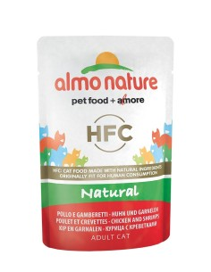 Almo Nature classic NATURAL - Pollo e Gamberetti 55g