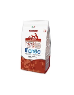 Monge all breeds puppy agnello e riso 12 kg