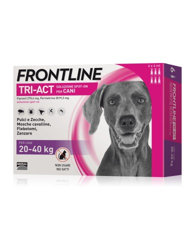 Frontline tri-act spot-on per cani 20-40 kg 6 pipette