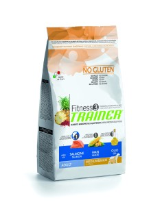 Fitness Trainer  3 adult medium e maxi salmone e mais  12,5 kg