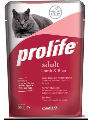 Prolife cat   agnello e riso busta umido 85 gr