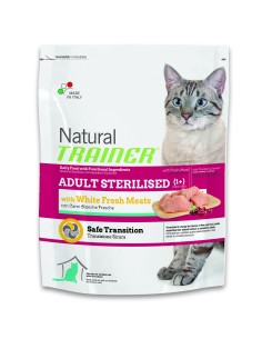 Natural trainer Gatto adult sterilised carni bianche fresche 300 gr