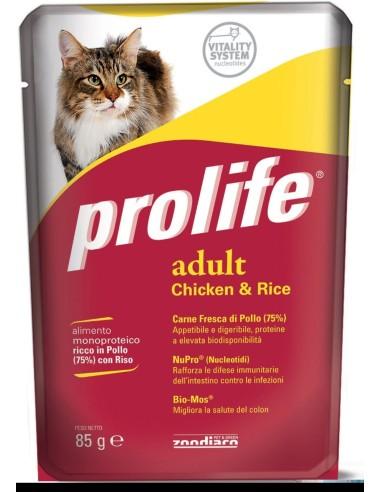 Prolife Cat Adult Pollo e Riso - 85 gr