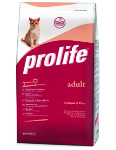 Prolife Cat adult salmone e riso 12 kg