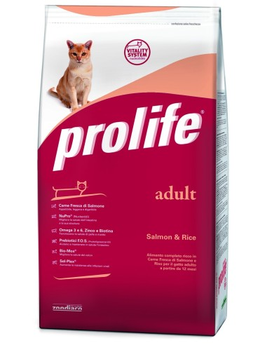Prolife Cat adult salmone e riso 12 kg