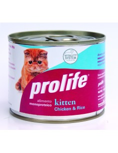 Prolife cat kitten pollo e riso 200 gr