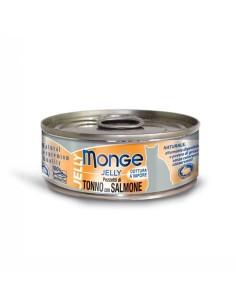 Monge jelly pezzetti di tonno bonito e salmone 80 gr