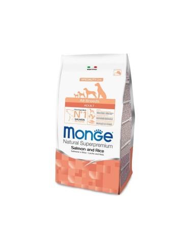 Monge Dog Monoprotein All Breeds Adult con Salmone e Riso - 12kg