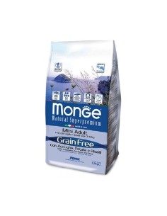 Monge grain free mini adult acciughe patate e piselli 2,5 kg